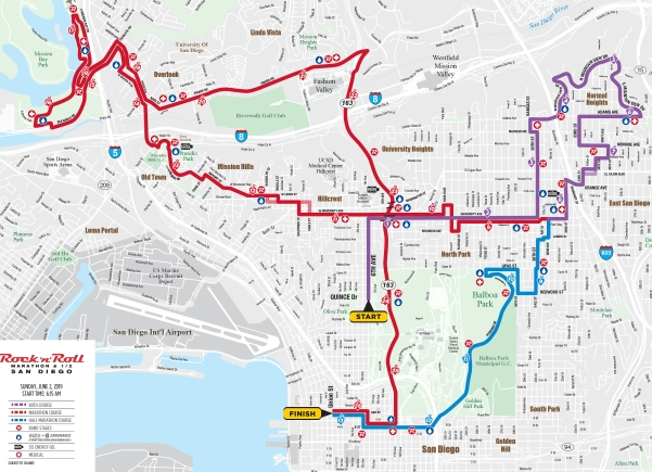 Roads to Close for 2019 Rock 'n' Roll Marathon - NBC 7 San Diego