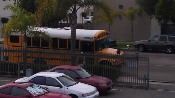 School Bus Strays from Route