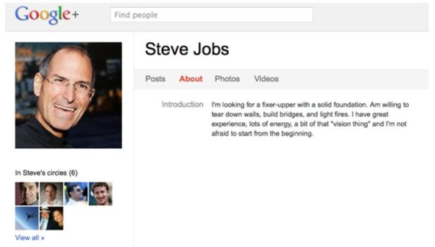 Google+ Deletes Steve Jobs?
