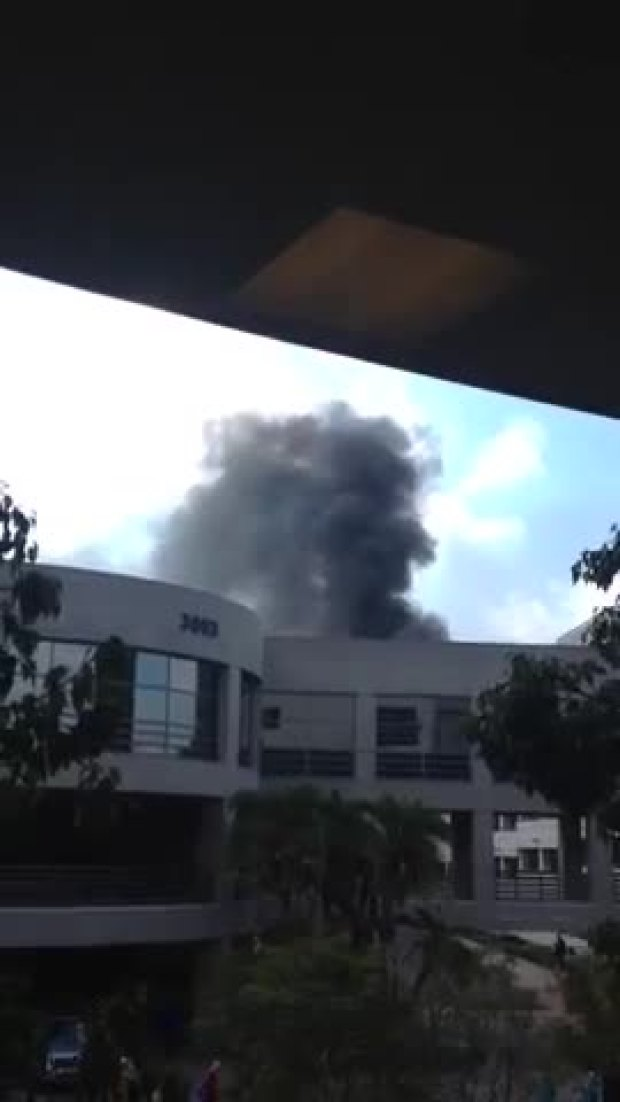 Watch: Viewer Video of Sharp Memorial Hospital Fire