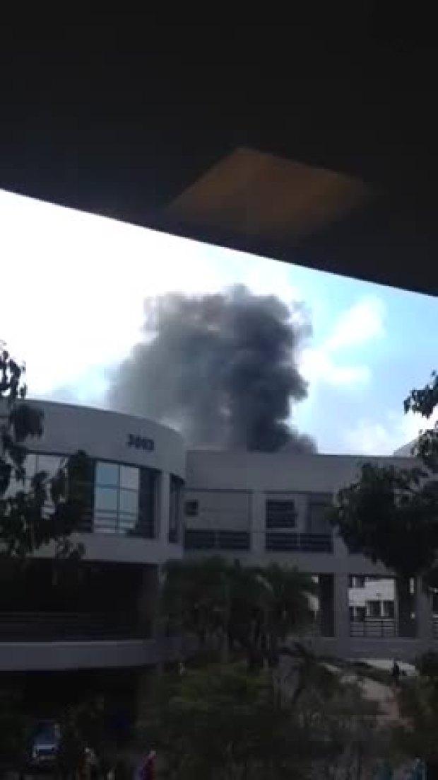 Watch: Viewer Video of Sharp Memorial Hospital Fire
