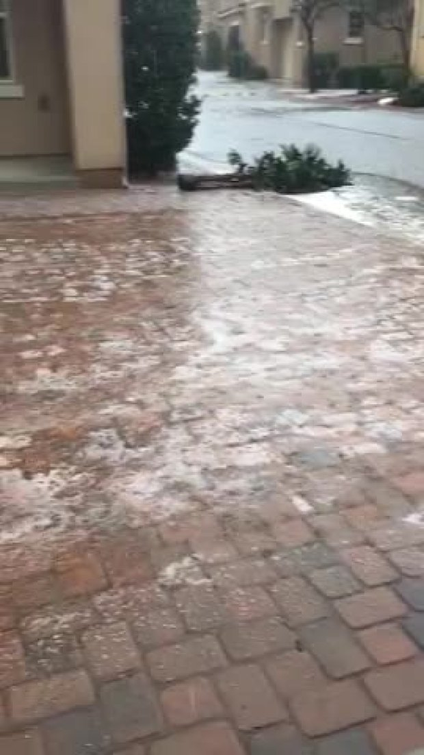 Hail in Spring Valley
