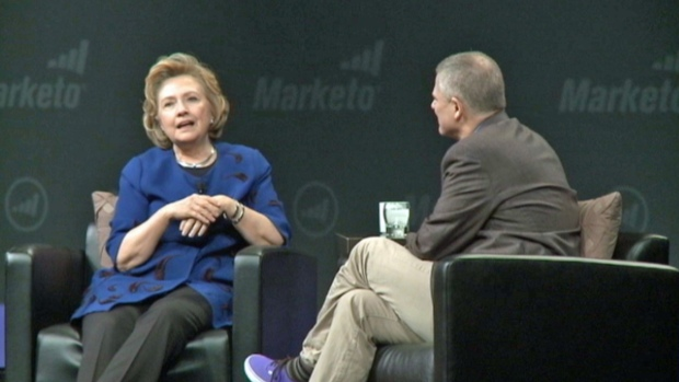"""[BAY] RAW VIDEO: Hillary Clinton Says She's """"Thinking"""" About Running for President"""
