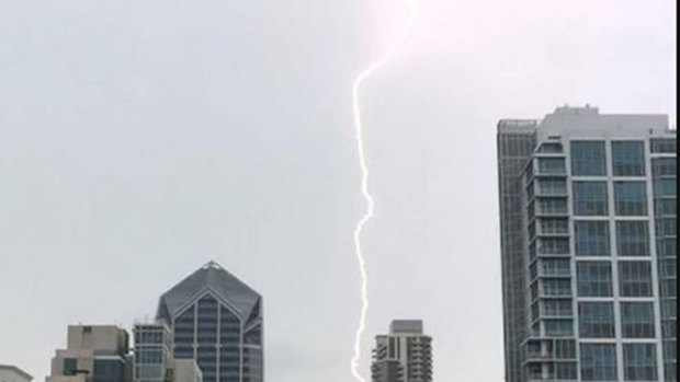 Images of Lightning in San Diego County