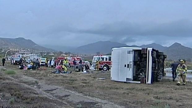 [G]1 Killed, 21 Injured in Fallbrook Bus Crash