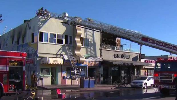 2 Injured in Mission Beach Fire