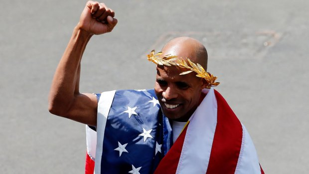 Meb Keflezighi Wins Boston Marathon: Images