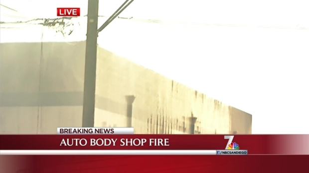 [DGO]Auto Body Shop Goes Up in Flames