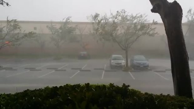 "VIDEO: ""Are We in a Tornado?"" Extreme Weather in Mission Valley"