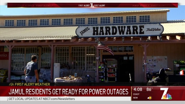 [DGO] Jamul Gets Ready for Power Outages