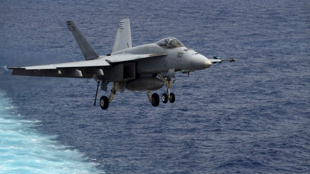 Search for Pilot After Jets Collided Off USS Carl Vinson