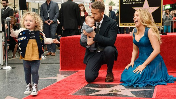 [NATL] Ryan Reynolds' Daughters Steal Show During Walk of Fame Ceremony
