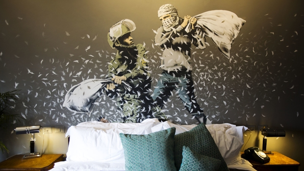 Banksy's Art Features in Hotel With World's 'Worst View'