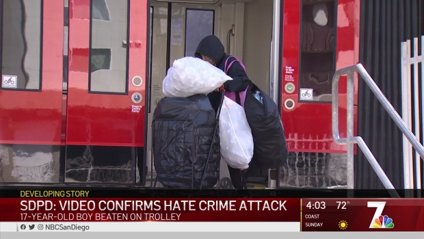 [DGO] Video Confirms Hate Crime Attack on Arab Teen on Trolley Car: SDPD