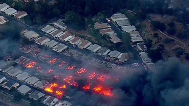 [DGO]   Chopper Video: Houses burn in Bonsall