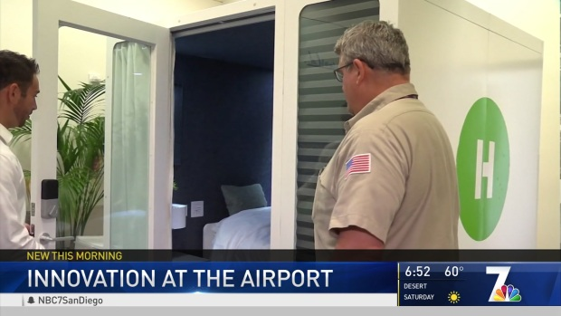 Sleeping Pods Tested at San Diego Airport