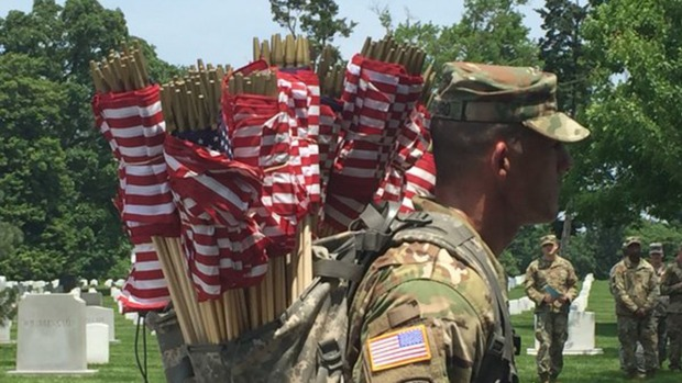 [NATL-DC] 'Flags In' Ceremony Held at Arlington National Cemetery
