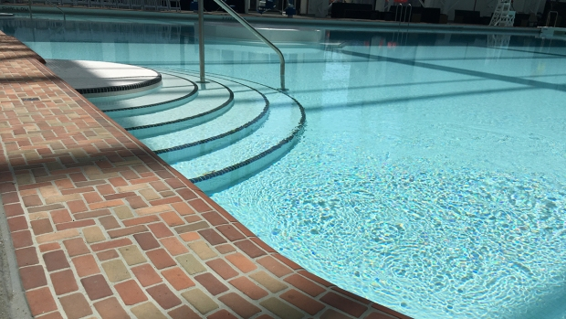 Historic Plunge Pool Reopens at Belmont Park