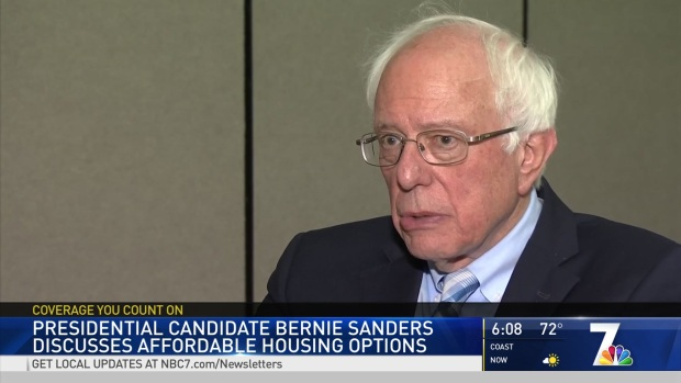 Presidential Candidate Bernie Sanders Discusses Affordable Housing