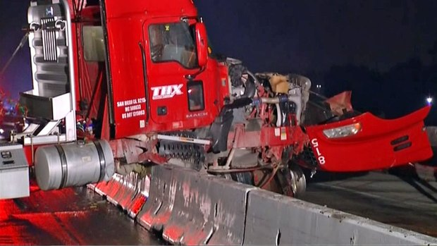 [DGO] Big Rig Crash Slows I-805 Traffic