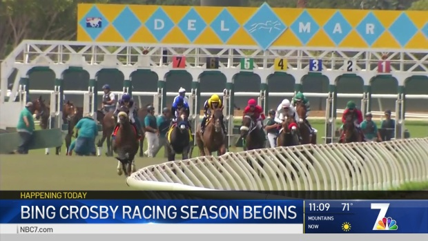 Bing Crosby Racing Season Begins at Del Mar