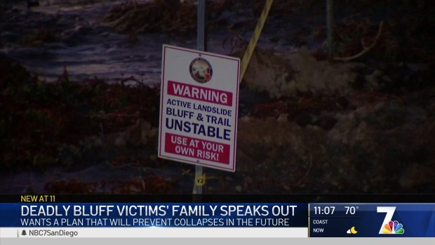 Father and Husband of Bluff Collapse Victims Asks City Council for Safety Improvements