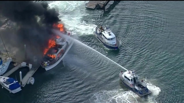 [DGO] Boat Fire Sunroad Resort Marina