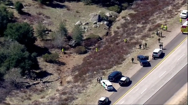 Images: Pursuit Ends in Crash on I-8 Near Pine Valley