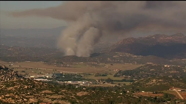 [DGO] Brush Fire Sends Plume of Smoke Above East County