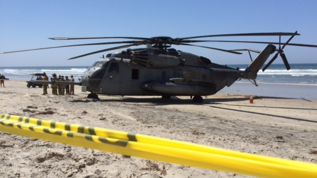 [G] Marine Chopper Makes Unexpected Beach Landing