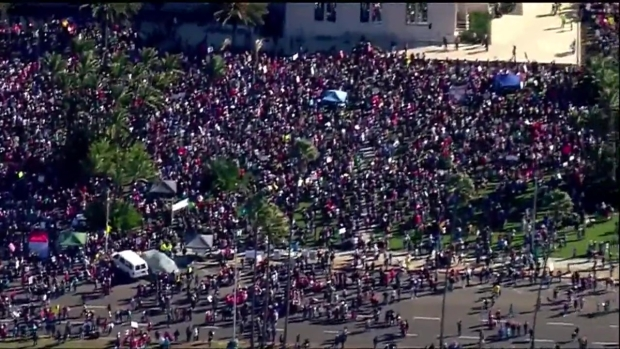 Aerial View of the 2018 Women's March San Diego
