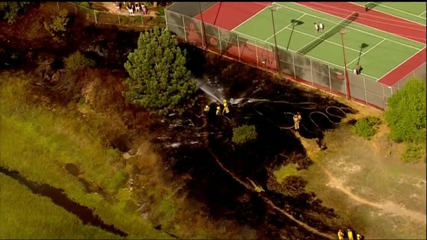 [DGO] Fire Threatens Apartments in Point Loma