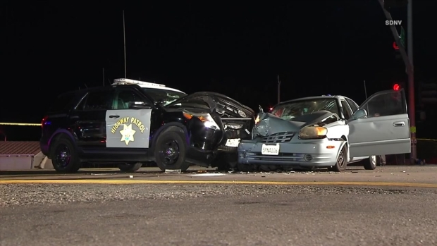 [DGO] 2 CHP Officers Hurt in Suspected DUI Crash