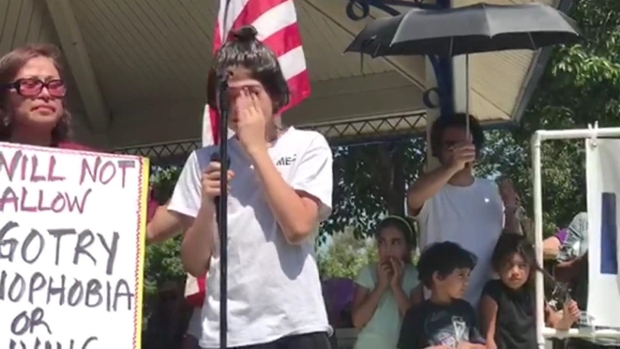 12-Year-Old Gives Impassioned Speech at Temecula Rally