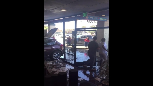 Car Slams into Restaurant in National City