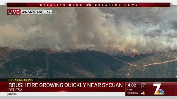 'Dehesa Fire' Forces Home Evacuations Near Sycuan Casino