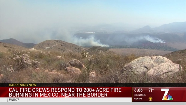 Cal Fire Crews Respond to 200-Acre Fire Near the Border