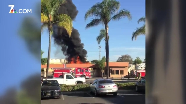 College East Car Wash Catches Fire