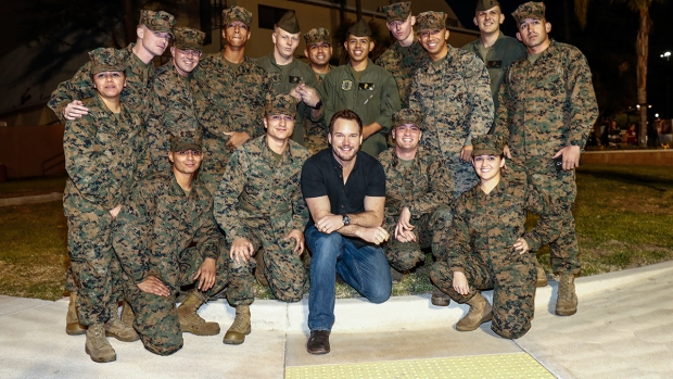Images: Chris Pratt Visits MCAS Miramar