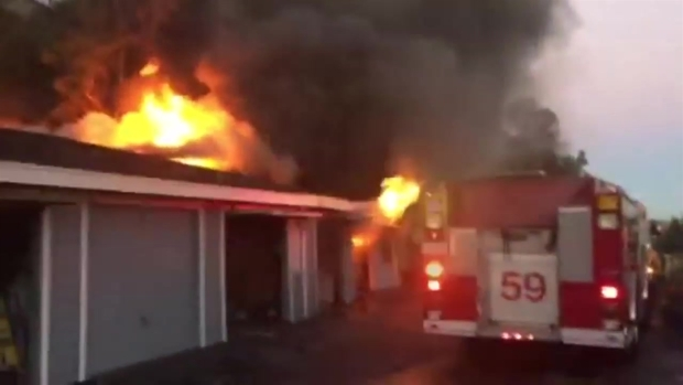 [DGO] Chula Vista Fire Burns Garages, Cars