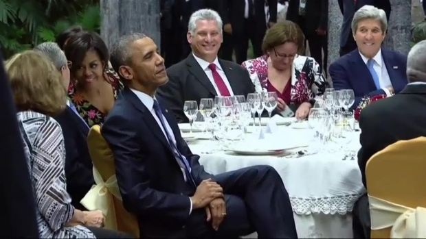 [NATL] Castro Hosts State Dinner For Obamas