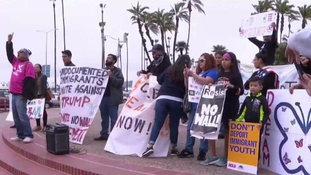 DACA Recipients Lead Rally Against Trump's Immigration Agend
