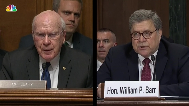 Barr Challenged on Prior Testimony in Light of Mueller Letter