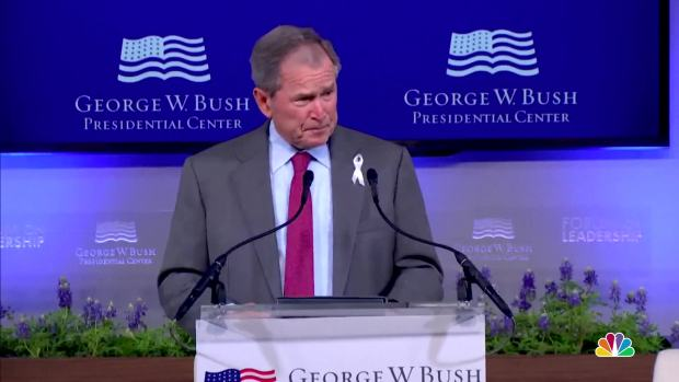 [NATL] George W. Bush, Jeb Bush Share Anecdotes About Barbara Bush