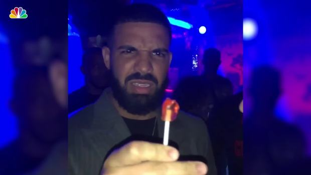 [NATL] Drake Wowed by Lollipop Magic Trick