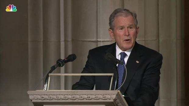 [NATL] George W. Bush Jokes About His Father's Flaws
