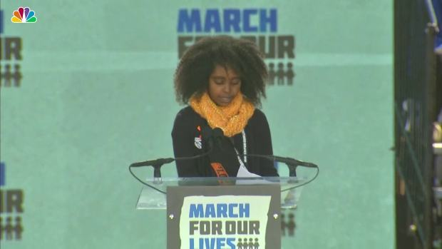 [NATL] 11-Year-Old Naomi Wadler Speaks at March for Our Lives