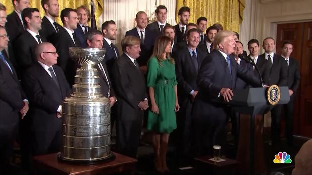 Trump Welcomes Colleges Sports Champions at White House Reception
