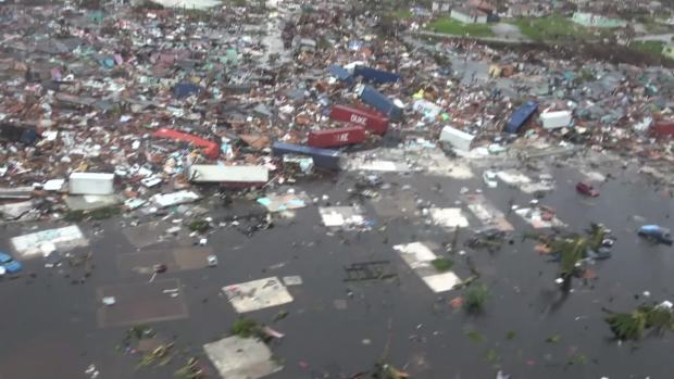 Widespread Devastation Seen From Aerials Above Abaco, Bahamas