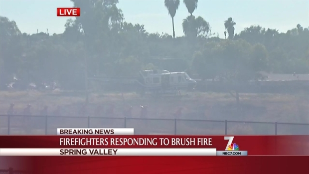 [DGO] Brush Fire Burns in Spring Valley